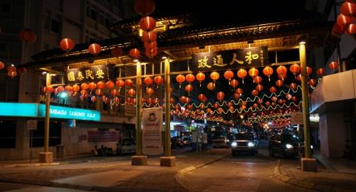 Gaya Street in a Splendour of Reds & Light Fantasia