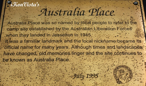 Plaque of Australia Place