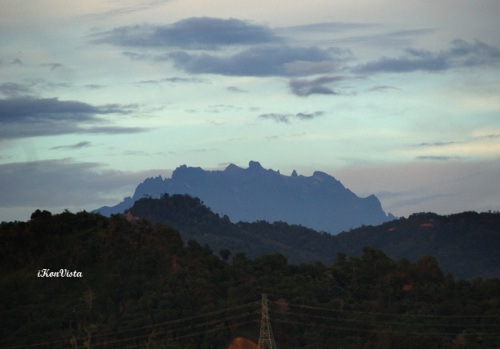 Mt. Kinabalu As Viewed From KK Tropical Rainforest Park